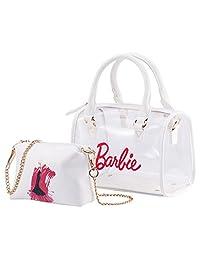 barbie 芭比 公主系列 女式 防水单肩手提子母包沙滩包中包斜跨包 BBFBPTAI255.02A 白色 28 * 13 * 22.5cm(供应商直送)