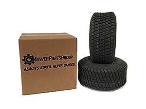 MowerPartsGroup (2) 16x6.50-8 Turf 轮胎 4 层 Grassmaster 踏板