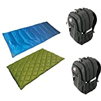 High Peak USA Alpinizmo Ceduna 20/Florida 20 Combo 睡袋带 2 个背包,灰色/蓝色/绿色,均码