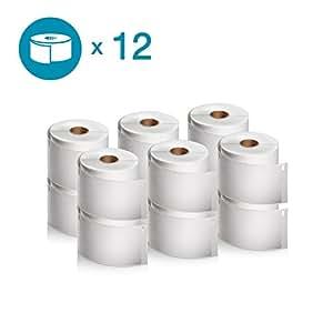 DYMO LW 邮寄地址标签 标签 标签打印机,白色,1-1/8 英寸 x 3-1/2 英寸,2 卷 260 (30572) Shipping Labels 12 rolls of 300