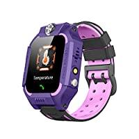 儿童智能手表 LBS 定位,SOS 双向通话 IP67 防水,智能游戏,温度测量,电子围栏,1.4 英寸高清触摸屏,兼容 Android 和 iOS