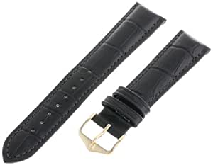 Hirsch 18mm 皮革表带,颜色:黑色(型号:010281-50-18)