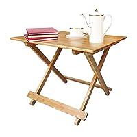 【可折叠功能】Homestar好事达简约竹制亮节折叠桌 餐桌 竹制折叠桌3459(亚马逊自营商品, 由供应商配送)