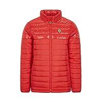 Ferrari Scuderia F1 男士加厚夾克 黑色/紅色 紅色 大