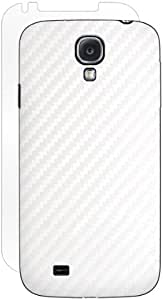 BodyGuardz Carbon Fiber Armor Stylish Skin Full Body Protector for Samsung Galaxy S4-1 Pack - Retail Packaging 白色