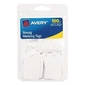 Avery 白色穿线标记标签,21.59X 27.94cm ,100个装 ( 6732)