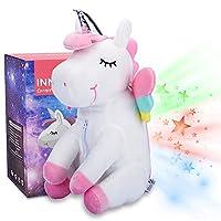 Unicorn Star Projector 兒童夜燈,獨角獸毛絨玩具禮物送給女孩的愛 - InnoBeta Cornie The Unicorn