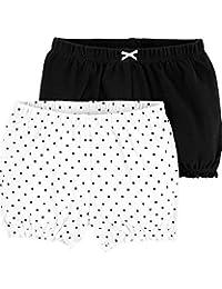 Carter's 卡特女婴2件装。 泡泡短裤 - 黑白波尔卡 - 6 个月