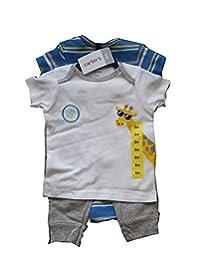 NEW CARTERS 男童 3 件套套装,适合 6 个月的年龄。 白色、蓝色、灰色。 尺寸:6 米。