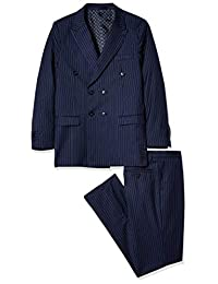 Isaac Mizrahi 男孩 2 件套双排细条纹西装