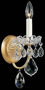 Schonbek 3650-211SH 施华洛世奇照明新奥尔良墙壁灯,Aurelia 需配变压器