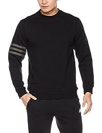 adidas 阿迪达斯 男式 运动型格 套头衫 CI3297 黑 3S LOGO B