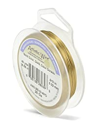 Artistic Wire 28-Gauge Silver Plated Gold Wire, 40-Yards