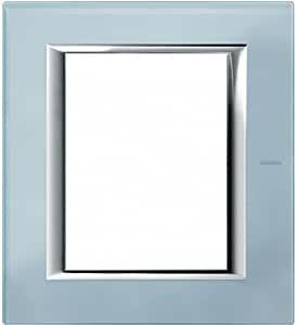 BTicino Axolute ha4826vzs - ax-placa 3 + 3 M 玻璃蓝色