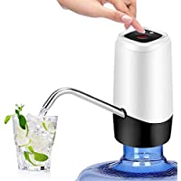 YOMYM 水瓶泵,USB充电便携式电动水泵,适用于5加仑瓶白色