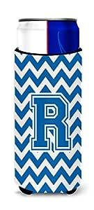 字母 R V 形蓝色和白色超饮料隔热器适用于纤薄罐 CJ1056-RMUK