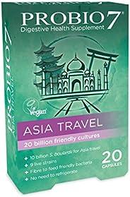 Probio7 亚洲旅行 | 专为亚洲配制| 9种活菌株| 100亿菌落单位+100亿布拉迪尼 | **补充剂