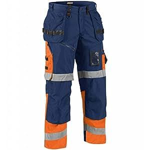 """blakläder 150818608953°C146尺码 C146"""" x1500高 VIS"""" 长裤–海洋蓝色/橙色"""