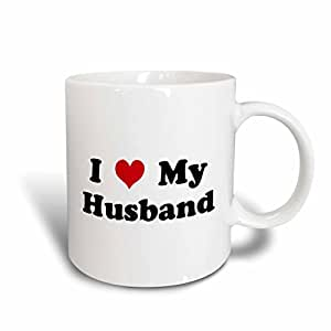 3dRose I Love My Husband Ceramic Mug, 15-Ounce