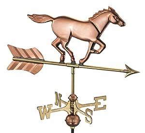 Cottage Weathervane Horse Polished Copper