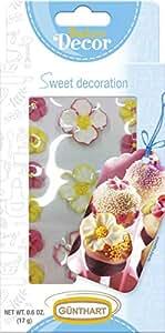 Gunthart 15 Pack Decorations, Sugar Flower, 0.60 Ounce