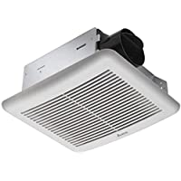 ATXFAN 80-PoE 80 CFM 排气浴室风扇 适用于 802.3af PoE 或 48 伏操作,安静 1.3 声气流,采用经过验证的 Delta Breez 直流电机,超薄 5 3/4 英寸深和 4 英寸管道。