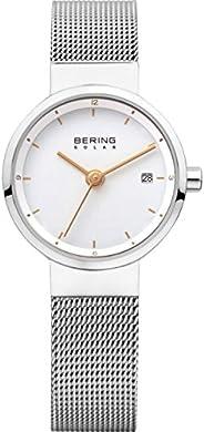 Bering 丹麦品牌 太阳能系列 光动能女士手表 14424-001(亚马逊自营商品, 由供应商配送)