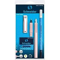 Schneider 施耐德 Ceod Shiny 書寫套裝 帶鋼筆 墨水筆 中性筆 (右手和左手 M 號筆,含墨膽藍) 太平洋藍色