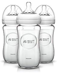 中国亚马逊:飞利浦 AVENT 新安怡 宽口径 自然原生玻璃奶瓶 240ml*393.69元(直邮低至104元)