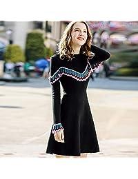 范纪思 KAN·F/刊菲冬季新款女装套头保暖打底毛衣 百搭修身针织衫 连衣裙女