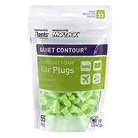 Flents Quiet Contour Ear Plugs/Earplugs (55 Pair Bonus Pack) NRR 33