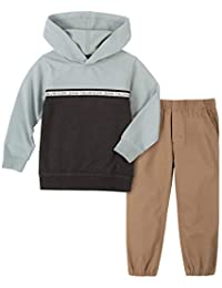 Calvin Klein 男孩款小两件套长袖长裤套装