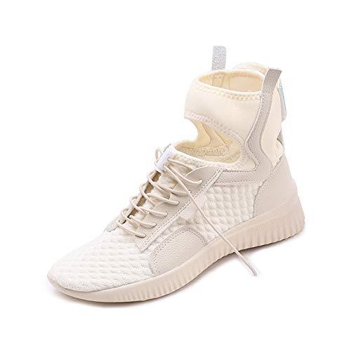 同じ女性の靴ヒップホップの靴トレンドフラットカジュアルシューズファッションダンスシューズハイトップベルト9986とAOSENDUNオッセンシールドファッションウィーク