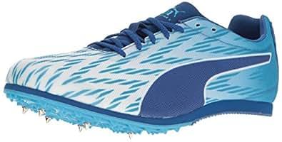 PUMA 男士 Evospeed Star 5 足球鞋 Puma White/Blue Danube/True Blue 12.5