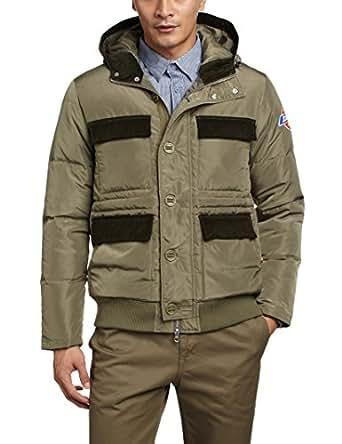 Dickies 男式 薄款羽绒军装徽章绣花卫衣充棉夹克 橄榄绿 175/96A 143M10WD02OL13