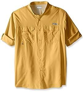 Columbia 男式 Blood and Guts III 长袖大/高筒针织衬衫,深香蕉色,3X 码