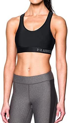 Under Armour 安德玛 女式 Armour Mid 运动文胸 1273504-001-XS 黑色/黑色/GAA XS(亚马逊自营 保税区发货)