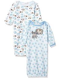 Quiltex 男孩 Charming Little Guy Sleeper 睡袍 2 件套