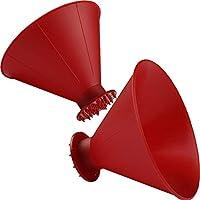 SNAPY 2 件装魔术冰刀锥形圆形汽车挡风玻璃冰刀漏斗冰刮刀汽车除雪器铲工具(红色)