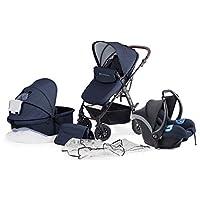 Kinderkraft Moov 多功能三合一组合婴儿车,带婴儿座椅,深蓝色