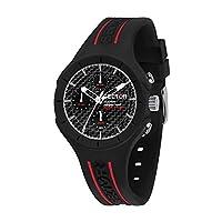 区男式 ' SPEED ' 石英塑料和硅胶运动手表,黑色(型号: r3251514002)