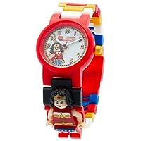 LEGO 乐高 漫画8020271 英雄神奇女侠儿童Minifigure链接可建造手表 |红色/白色|塑料| 25毫米表壳直径|模拟石英|官方