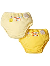 【Amazon.co.jp限定】DISNEY 2条装4层背带式运动裤 A3CA1 [対象] 6ヶ月 ~ 48ヶ月 黄色 95