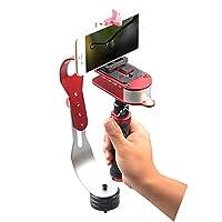 ikodoo爱酷多 手持稳定仪GoPro摄像支架 单反微单数码手机自拍稳定器 摄影DV、数码单反新款手持精灵稳定器 网红户外拍摄工具 (手持稳定仪 红色)