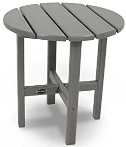 """18"""" Round Outdoor POLYWOOD Side Table Slate Grey 无尺寸"""