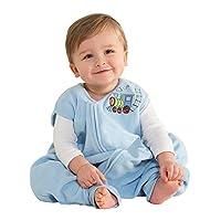 HALO学步幼儿可伸脚摇粒绒安全睡袋 (秋冬厚款) 蓝色小火车 L(12-18个月)