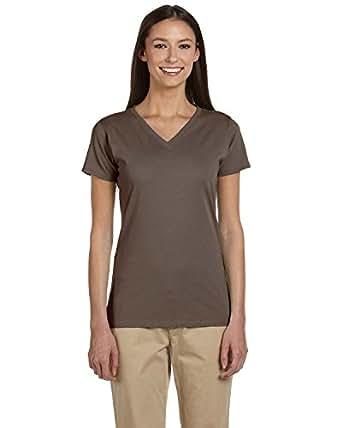 econscious Ladies' 4.4 oz.; 100% Organic Cotton Short-Sleeve V-Neck T-Shirt - METEORITE - 2XL