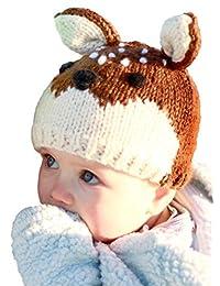 Huggalugs 婴幼儿 儿童 Fawn Deer 无檐小便帽