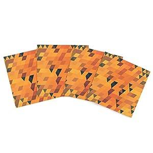 Kess InHouse Danny Ivan 金色图案户外餐垫,15 x 15 英寸,4 件套