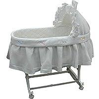 """Babykidsbargains Short Pique-Fleece Poly Cotton Bassinet Liner Skirt and Hood, 16""""x32"""""""